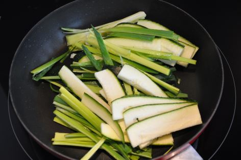 zucchini- leek