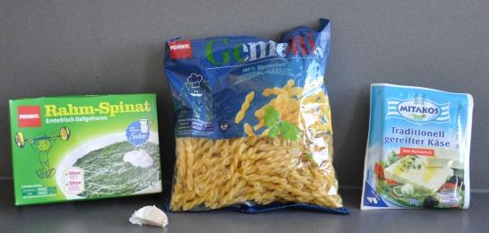 macaroni spinach Greek cheese