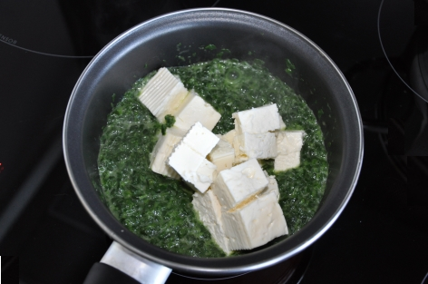spinach and Greek cheese