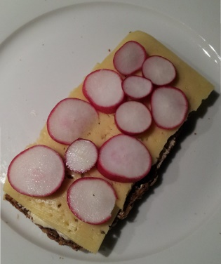 cheese and radish