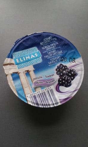 Greek yogurt with blackberries