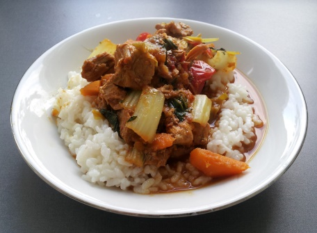 rice with pork and vegetables in curry-chili sauce2